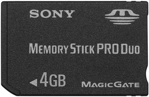 Picture of Sony Memory Stick PRO Duo™ 4GB