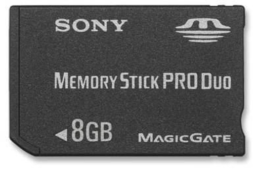 תמונה של Sony Memory Stick PRO Duo™ 8GB