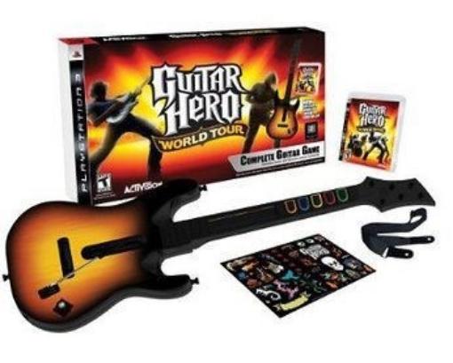 תמונה של גיטרה אלחוטית מקורית לקונסולת PS3 +משחק מקורי