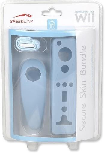 תמונה של כיסויי סיליקון Wii - Secure Skin Bundle - Blueספידלינק