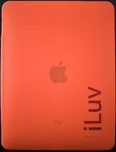 תמונה של מגן סיליקון ל ipad  צבע אדום