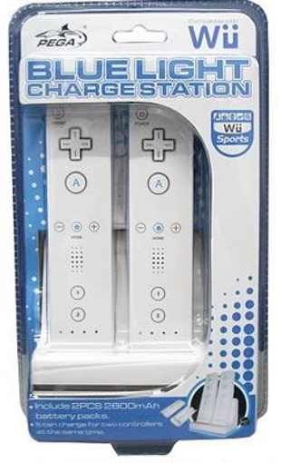 Picture of מטען שולחני מואר לשלטי ה Wii + זוג סוללות