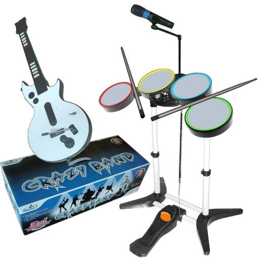 תמונה של ערכת תופים ל PS2+ גיטרה + מיקרופון