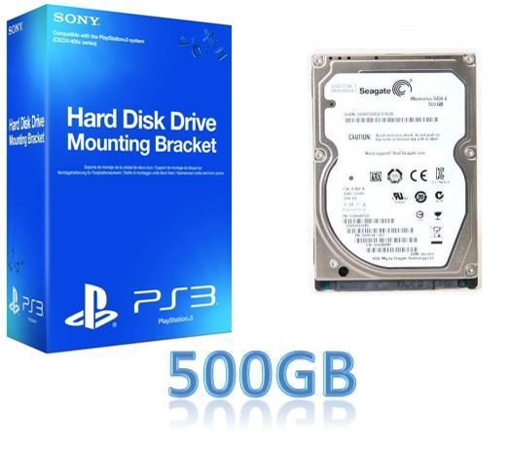 תמונה של תושבת התקנת לPS3 + כונן קשיח 500GB