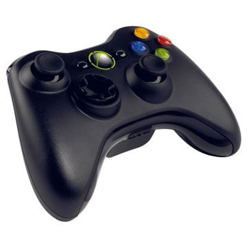 Picture of Microsoft XBOX 360 Black  Wireless Controller