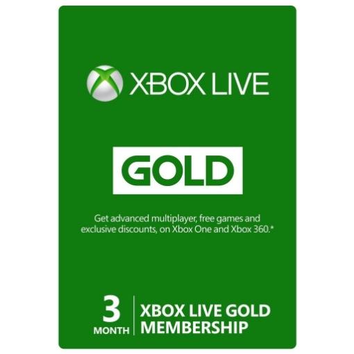 תמונה של כרטיס Xbox Live Gold Membership - מנוי למשך 3 חודשים המקנה 8 משחקים חינם