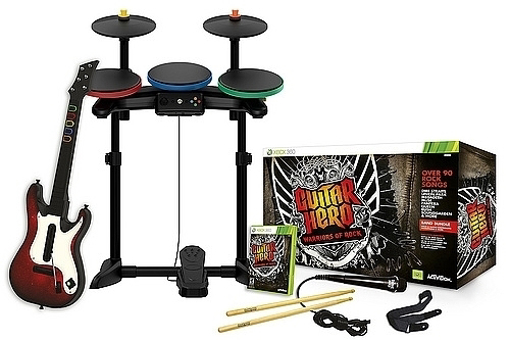 Picture of Xbox 360 Guitar Hero 6: Warriors of Rock Full Band Bundle