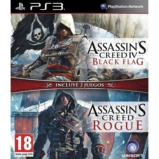 תמונה של PS3 ASSASSINS CREED BLACK FLAG + ROGUE DOUBLE PACK