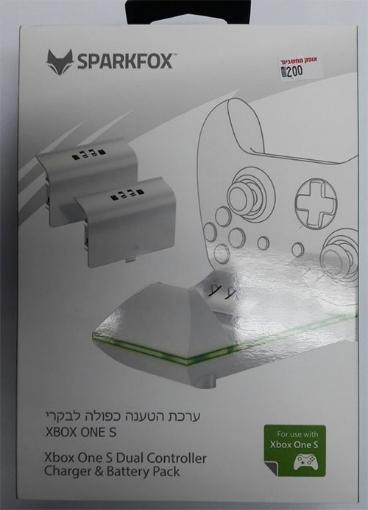 תמונה של ערכת טעינה ל xbox one s dual controller charger & battery pack מבית Sparkfox