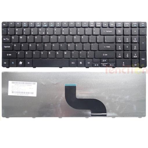 תמונה של מקלדת למחשב נייד Acer Aspire 5810tz 5810T 5810PG 5810 5800 5750G 5750 5745 5742 5741G 5741 5740 AS5538G AS5538 8940G 8935G 7741 7735 7552 7551 7535 series Black
