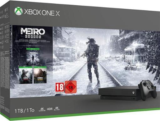 תמונה של קונסולת Xbox One X 1TB + Metro Saga