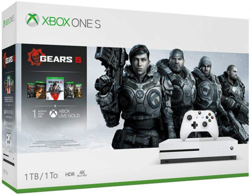 Picture of קונסולת Xbox One S 1TB + Gears 5 + Gears of War 2+3+4+Ultimate