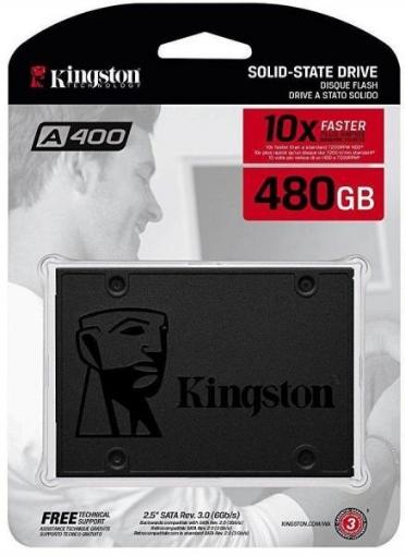 תמונה של דיסק פנימי 2.5 Kingston A400 480GB SSD 3D NAND