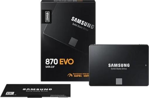 Picture of דיסק SAMSUNG EVO870 250GB 2.5 SSD SATA III