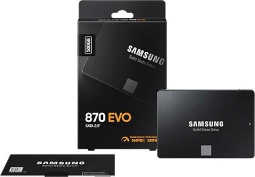 תמונה של דיסק SAMSUNG EVO870 500GB 2.5 SSD SATA III