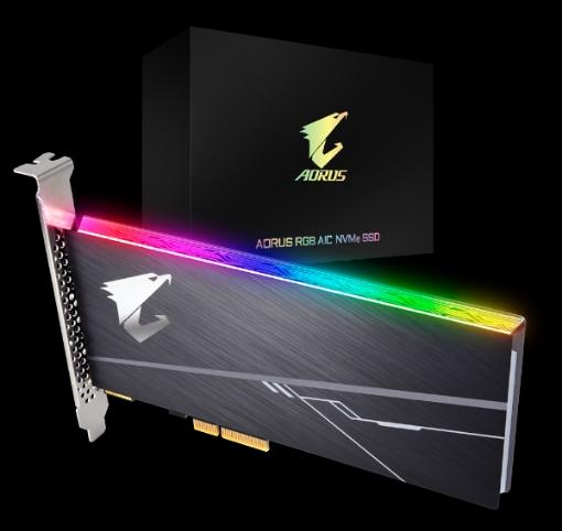 תמונה של דיסק פנימי  Gigabyte Aorus 1TB NVME RGB PCIE CARD