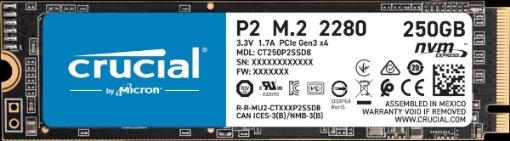 תמונה של דיסק Crucial CT250P2SSD8 SSD 250GB P2 M2 NVMe PCIe