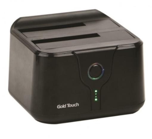 תמונה של קופסא לדיסק חיצוני 2.5 Gold Touch USB3.0 Dual Bay