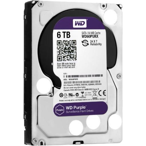 Picture of דיסק קשיח פנימי לנייח WD 6TB Purple 5400rpm 64MB 3.5