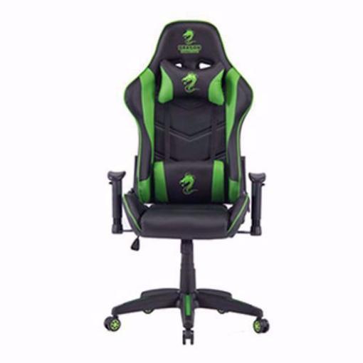 תמונה של כסא גיימינג מדגם Dragon Olympus שחור/ירוק