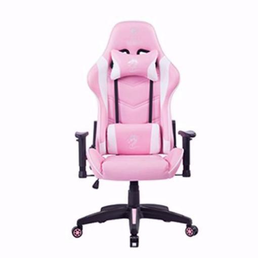 תמונה של כסא גיימינג מדגם OLYMPUS ורוד/לבן