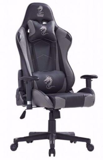 תמונה של כסא גיימינג מדגם  Dragon Gladiator שחור \  אפור