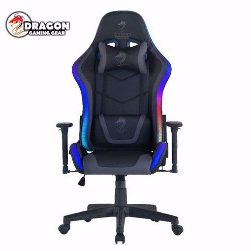 Picture of כסא גיימינג מדגם Dragon Space עם תאורת RGB שחור\אפור
