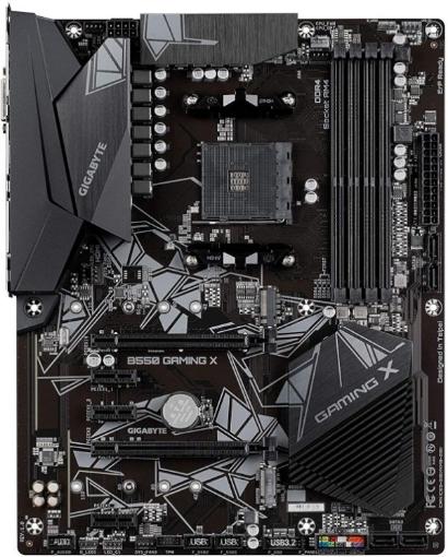 תמונה של לוח אם Gigabyte B550 GAMING X AMD ATX DUAL M.2 DRR4 HDMI DVI USB