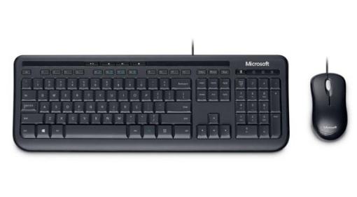 תמונה של סט מקלדת ועכבר חוטי Microsoft Wired Desktop 600